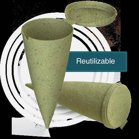 Cenicero Biodegradable
