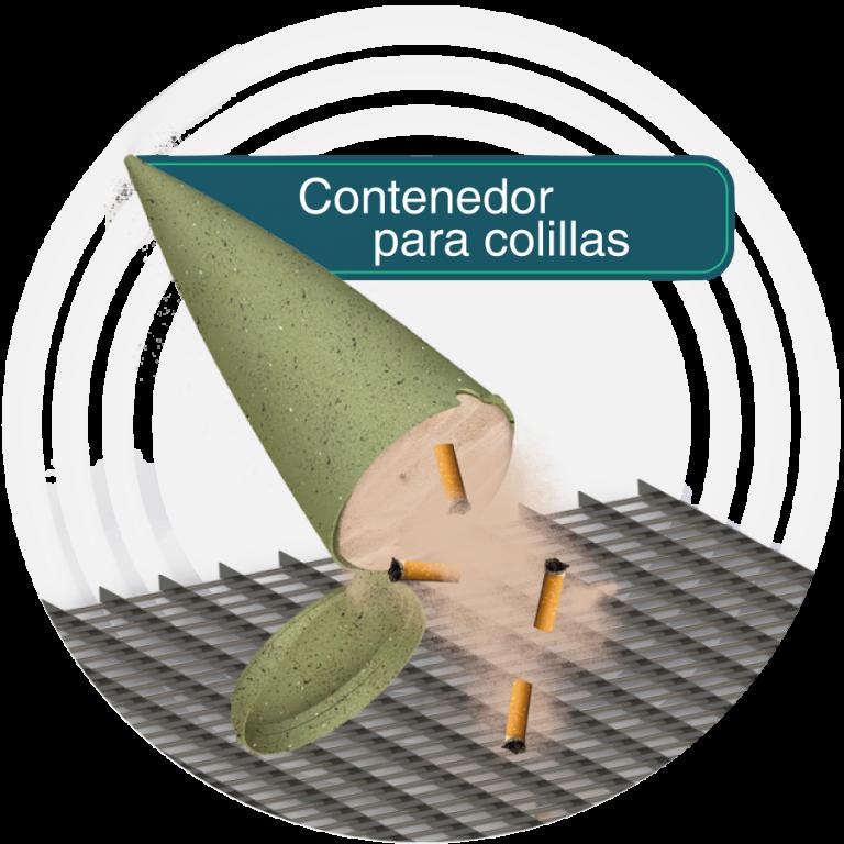 Contenedor para colillas de Cigarillo