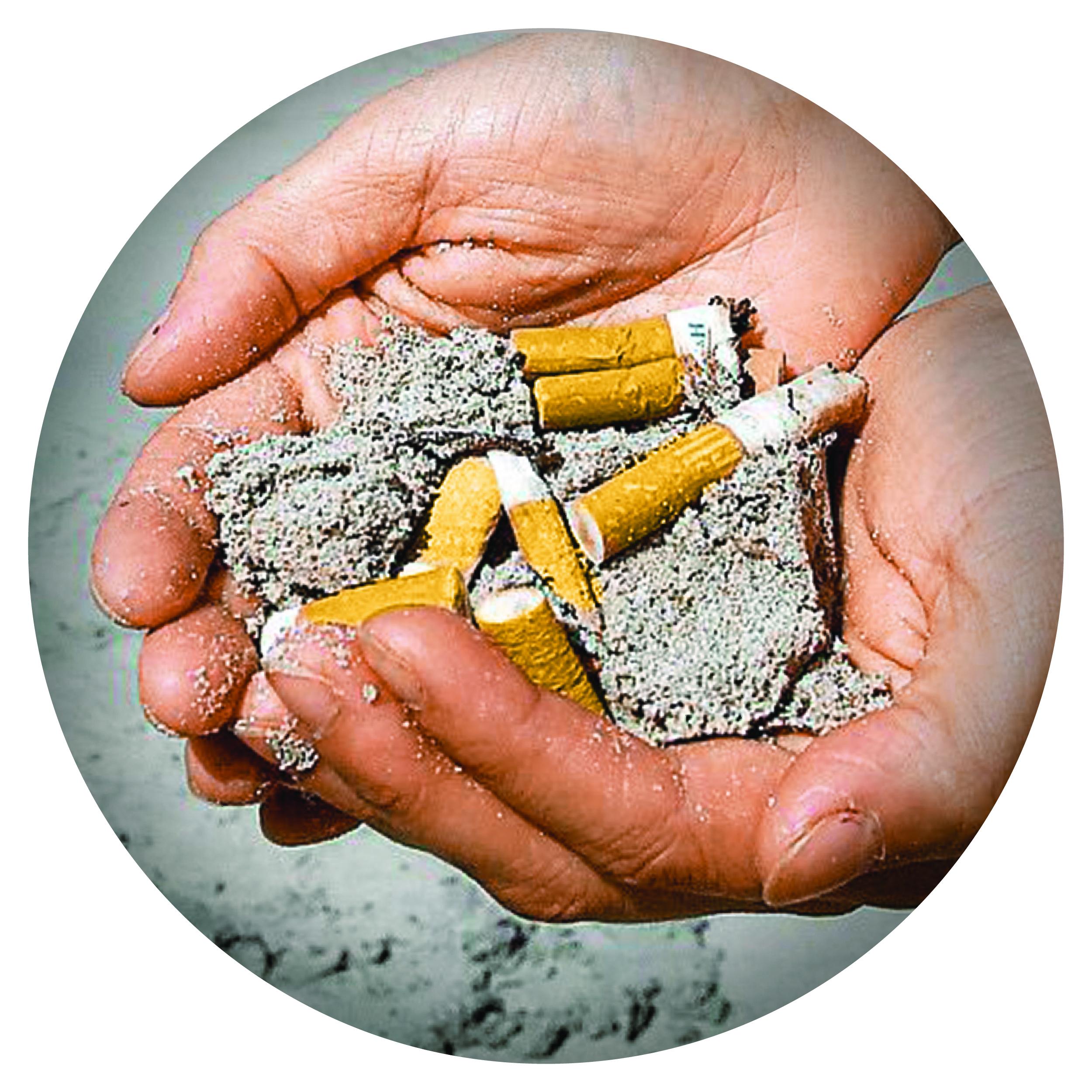 El 35% de los residuos recogidos en labores de limpieza son colillas.